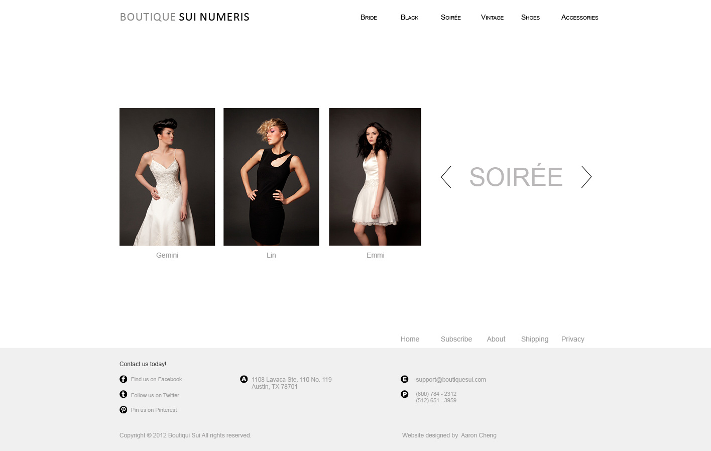Soiree Category
