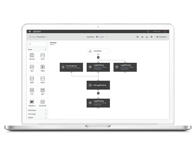 Striim Flow Designer Screenshot
